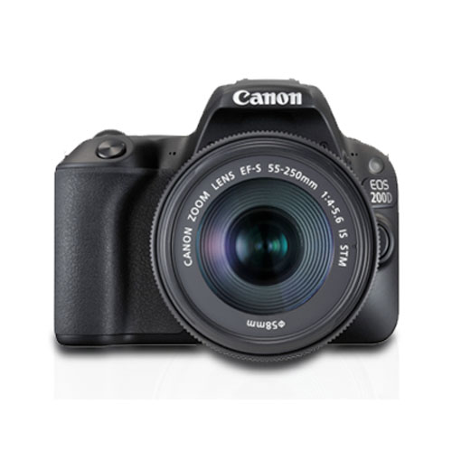 Canon EOS 200D with EF S18 55 IS STM EF S55 250 IS STM Kit Mumbai India
