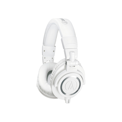 Audio Technica ATH M50x Monitor Headphones White 01