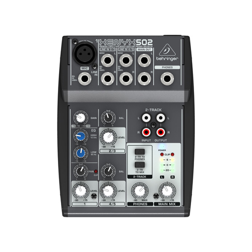 Behringer XENYX 502 5 Channel Compact Audio Mixer 01
