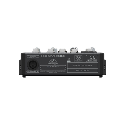 Behringer XENYX 502 5 Channel Compact Audio Mixer 04