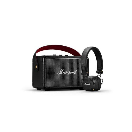 Marshall Kilburn II Bluetooth Speaker and Major III Bluetooth Headphone 01