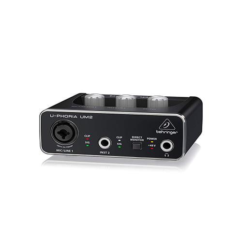 Behringer U PHORIA UM2 2×2 USB Audio Interface 02