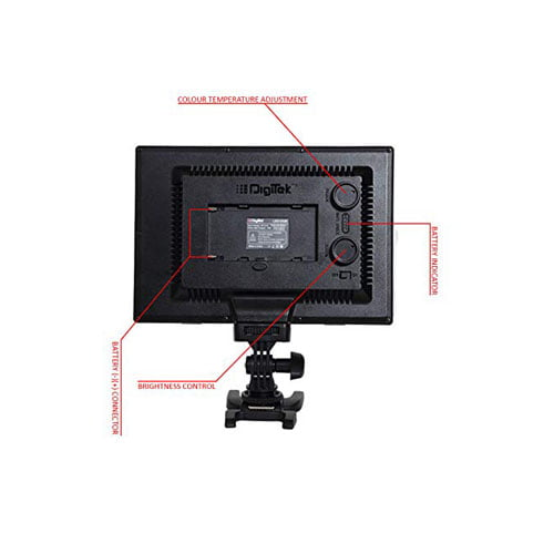 Digitek Professional LED Video Light D520 with Battery and Charger Online Buy Mumbai India 02